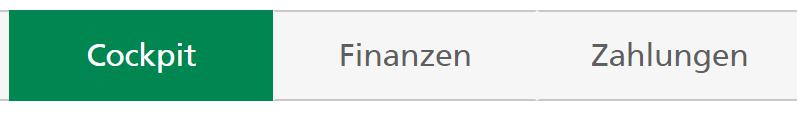 Screenshot E-Banking Menü