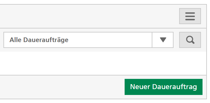 Screenshot E-Banking Dauerauftrag Übertrag