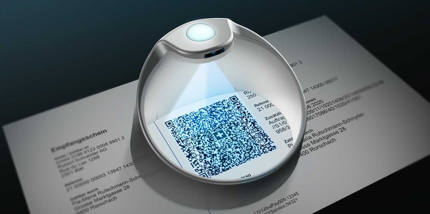 PayEye scannt QR-Code