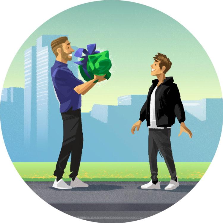 Fondssparplan Geschenk-Variante