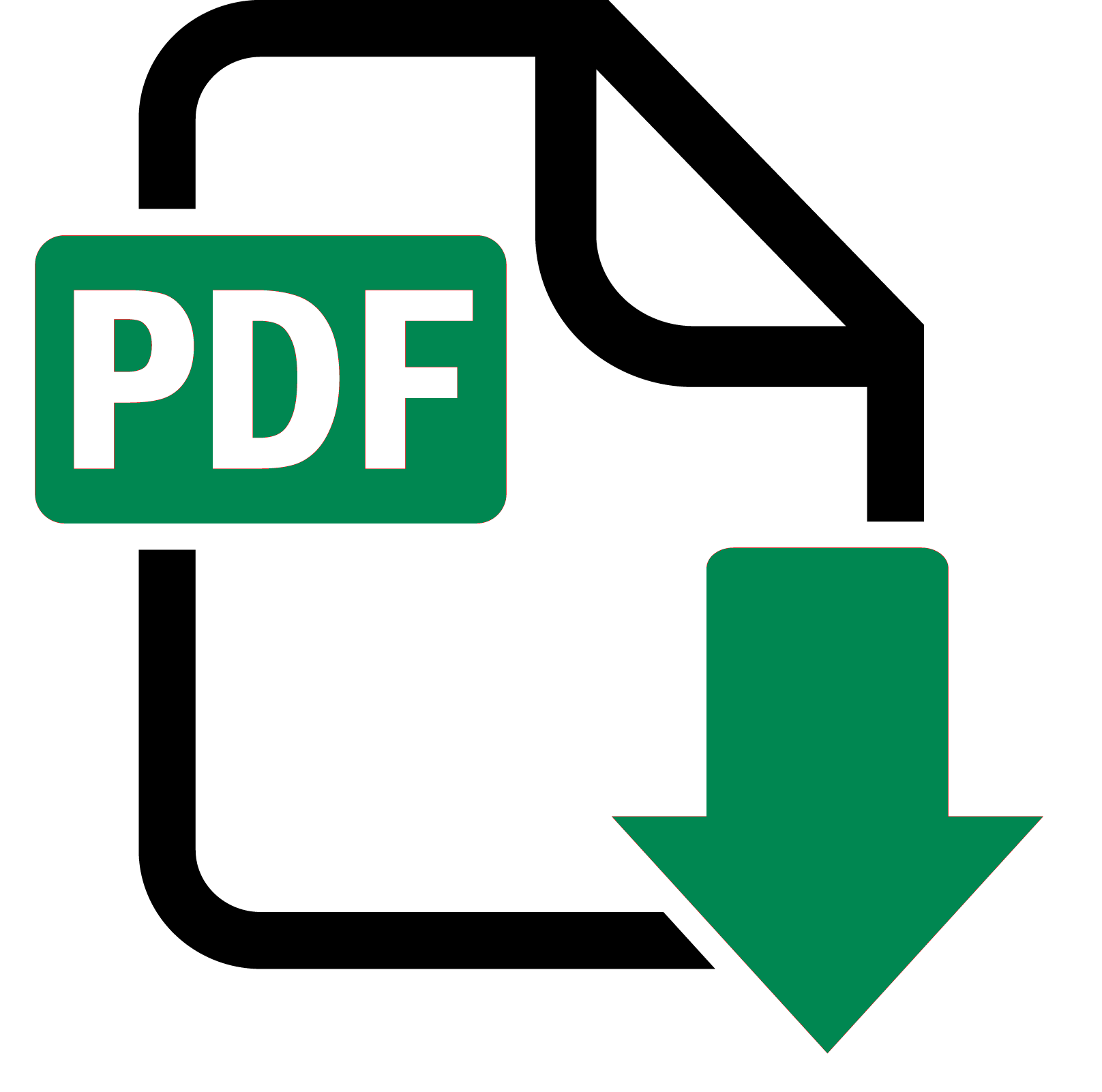 Icon PDF gruen