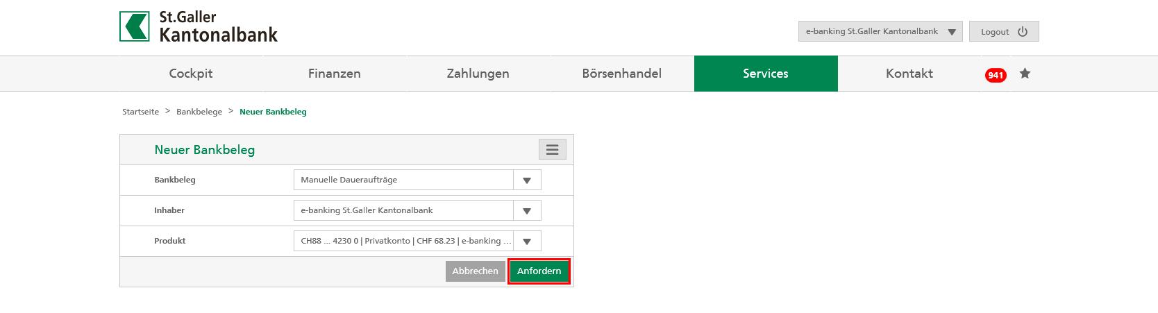 Anleitung E-Banking
