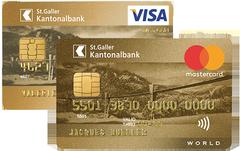 Die SGKB MasterCard/Visa Gold