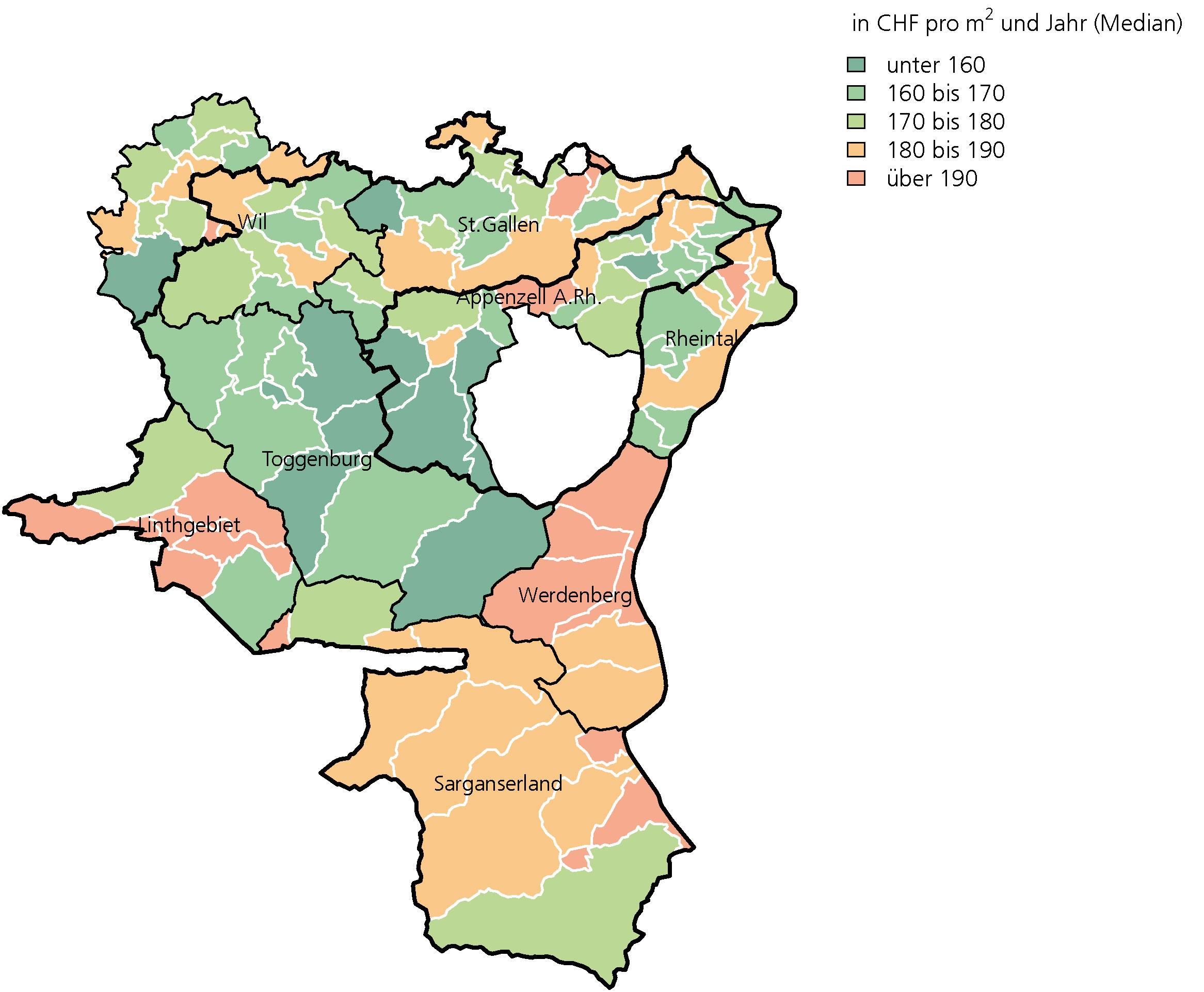 Preislandschaft Wohnungsmieten